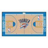 FANMATS Oklahoma City Thunder NBA Court Runner Non-Slip Indoor Only Door Mat in Brown/White, Size 24.0 W x 44.0 D in | Wayfair 9506