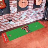FANMATS NCAA Texas Tech University Putting 72 in. x 18 in. Non-Slip Indoor Only Door Mat Synthetics in Green, Size 18.0 W x 72.0 D in   Wayfair