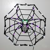 """Vickerman 30415 - 17"""" x 17"""" Spider Window Decor 35 Purple / Green / Clear Wide Angle LED Lights for Halloween"""