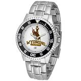SunTime Wyoming Cowboys NCAA Competitor Mens Watch (Metal Band)