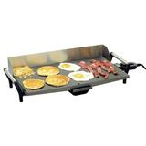 "BroilKing BroilKing Professional Non-Stick Griddle w/ Back, Stainless Steel/Cast Iron, Size 5""H X 29""W X 12""D 