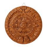 Ceramic plaque, 'Brown Aztec Calendar'