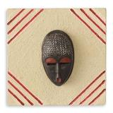 African mask plaque, 'Born on Wednesday'