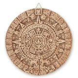 Ceramic plaque, 'Natural Aztec Sun Stone'