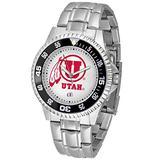 "Utah Utes NCAA ""Competitor"" Mens Watch (Metal Band)"