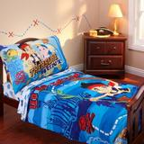 Disney Jake & the Neverland Pirates 4 Piece Toddler Bedding SetPolyester in Blue | Wayfair 6844416