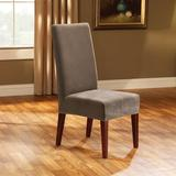Sure Fit Stretch Pique Box Cushion Dining Chair Slipcover Polyester/Polyester Blend, Size 42.0 H x 18.5 W x 17.5 D in | Wayfair STPI1830TAUP1