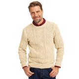 Men's John Blair Fisherman Sweater, Natural Tan 2XL