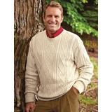 Men's John Blair Fisherman Sweater, Natural Tan 3XL