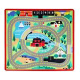 Melissa & Doug Round the Town Road Rug, Multicolor