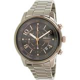 Seiko Matrix Chronograph Black Dial Stainless Steel Mens Watch SNDW83 by Seiko Watches