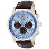 Guess Mens Analogue Classic Quartz Watch with Leather Strap W0380G6