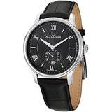 Alexander Statesman Regalia Men's Black Dial Black Leather Strap Swiss Made Watch A102-02