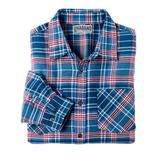 Haband Long Sleeve Mens Yarn Dyed Brushed Flannel Shirt, Blue, Size 3XL, 3X