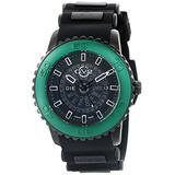 GV2 by Gevril Aurora Mens Swiss Quartz Black Silicone Strap Watch, (Model: 9705)