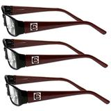 NCAA Siskiyou Sports Fan Shop South Carolina Fighting Gamecocks Sports Reading Glasses (3 Pack) Reading Power: +2.00 Red