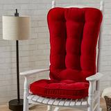 Greendale Home Fashions Jumbo Deluxe Boxed Rocker Seat Cushion, Red