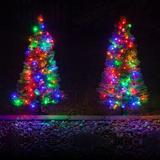 Kringle Traditions Winchester 3' Dark Fir Artificial Christmas Tree w/ 100 Multi-Color Lights in Green, Size 36.0 H x 21.0 W in | Wayfair