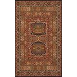 Momeni Rugs Persian Garden Collection, 100% New Zealand Wool Traditional Area Rug, 5' x 8', Black