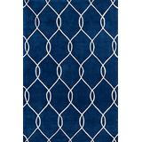 Momeni Rugs Bliss Collection, Hand Carved & Tufted Contemporary Area Rug, 2' x 3', Navy Blue