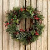 Mixed Pine & Berry Wreath - Ballard Designs