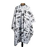 1907 Vintage Tools Barber Cape #NTA008, Lightweight, polyester, water resistant, protective, adjustable, snap closure, barber, hair stylist, salon, haircut, stylist