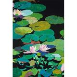 PTM Images 'Lily Pads I' Wrapped Canvas Print on CanvasCanvas & Fabric in Brown/Green, Size 36.0 H x 24.0 W x 1.5 D in   Wayfair 9-1421