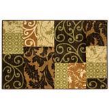 Brumlow Mills Morinda Night Area Rug Nylon in Brown, Size 96.0 H x 60.0 W x 0.5 D in   Wayfair 94128-14