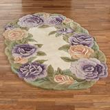 Mystic Garden Oval Rug Lavender, 5' x 8', Lavender