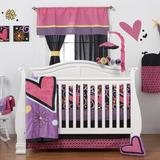 One Grace Place Sassy Shaylee Crib Bedding Set Cotton in Black, Size Infant (8 Piece)   Wayfair 10-26103