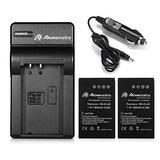 Powerextra EN-EL20a 2X Battery & Car Charger Compatible with Nikon Coolpix P950, P1000, DL24-500, Nikon1 J1, J2, J3, Nikon1 S1, Nikon1 V3, Nikon Coolpix A, Nikon1 AW1, Blackmagic Pocket Cinema