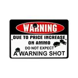 """Non-Slip Rectangle Funny Gun Doormat - Warning Due to Price Increase on Ammo Do Not Expect a Warning Shot Design Indoor and Outdoor Entrance Floor Mat Doormat - 23.6""""(L) x 15.7""""(W), 3/16"""" Thickness"""