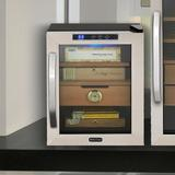 Whynter Cigar Humidor Wood in Black/Brown, Size 18.0 H x 13.5 W x 20.0 D in | Wayfair CHC-120S