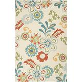 """Surya Storm SOM-7706 Contemporary Hand Hooked 100% Polypropylene Putty 3'3"""" x 5'3"""" Floral Area Rug"""