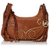 MICHAEL Michael Kors Rhea Studded Small Slouchy Shoulder, Luggage