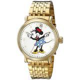 Disney Men's W001880 Minnie Mouse Analog Display Analog Quartz Gold Watch