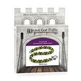 Weave Got Maille 3-Color Byzantine Chain Maille Bracelet Kit, Mardi Gras