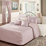 Silk Allure Grande Bedspread Dusty Mauve, Queen, Dusty Mauve
