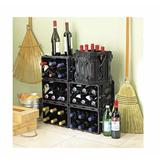 Wine Enthusiast Storvino Nero 6 Bottle Floor Wine Bottle Rack Plastic/Acrylic in Black, Size 10.25 H x 11.75 W x 8.0 D in   Wayfair 632 16 09