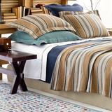 Pine Cone Hill Blue Heron 100% Cotton Blanket Cotton in Blue/Brown, Size Twin | Wayfair BBHT