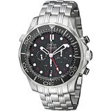 Omega Seamaster Diver Black Dial Chronograph Mens Watch 21230445201001