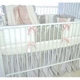 Blueberrie Kids Pink Champagne 4 Piece Crib Bedding Set Cotton Blend in Green/Pink, Size 52.0 W in | Wayfair 35PNK-4P