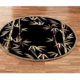 """Bamboo Round Rug Black, 7'6"""" Round, Black"""