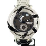 XOSkeleton Barracuda Swiss Ronda Quartz Gun Dial Blue Accent 316L Stainless Steel Watch