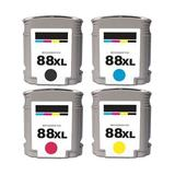 Ink Toner Remanufactured Ink Cartridge Replacement for HP HP OFFICEJET PRO K550 YELLOW INK CARTRIDGE ( Black,Cyan,Magenta,Yellow , 4-Pack )