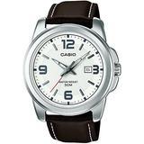 Casio Men's Year-Round Quartz Watch with Leather Strap, Brown, 20 (Model: MTP-1314PL-7AVEF)