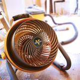 """Vornado 10"""" Blower 293 Large Heavy-Duty Shop Fan in Gray/Yellow, Size 17.5 H x 16.2 W x 15.2 D in   Wayfair CR1-0089-16"""