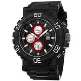 Joshua & Sons Men's Multifunction Watch - 3 Subdials with Date Window at 3 O'clock on Rugged Sporty Casing On Heavy Duty Bracelet - JS89