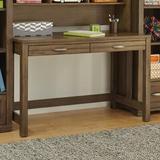 My Home Furnishings Logan Writing Desk Wood in Brown/Gray, Size 29.0 H x 48.0 W x 24.0 D in | Wayfair 701