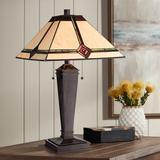 Lite Source Karysa Tiffany-Style Glass Bronze Table Lamp